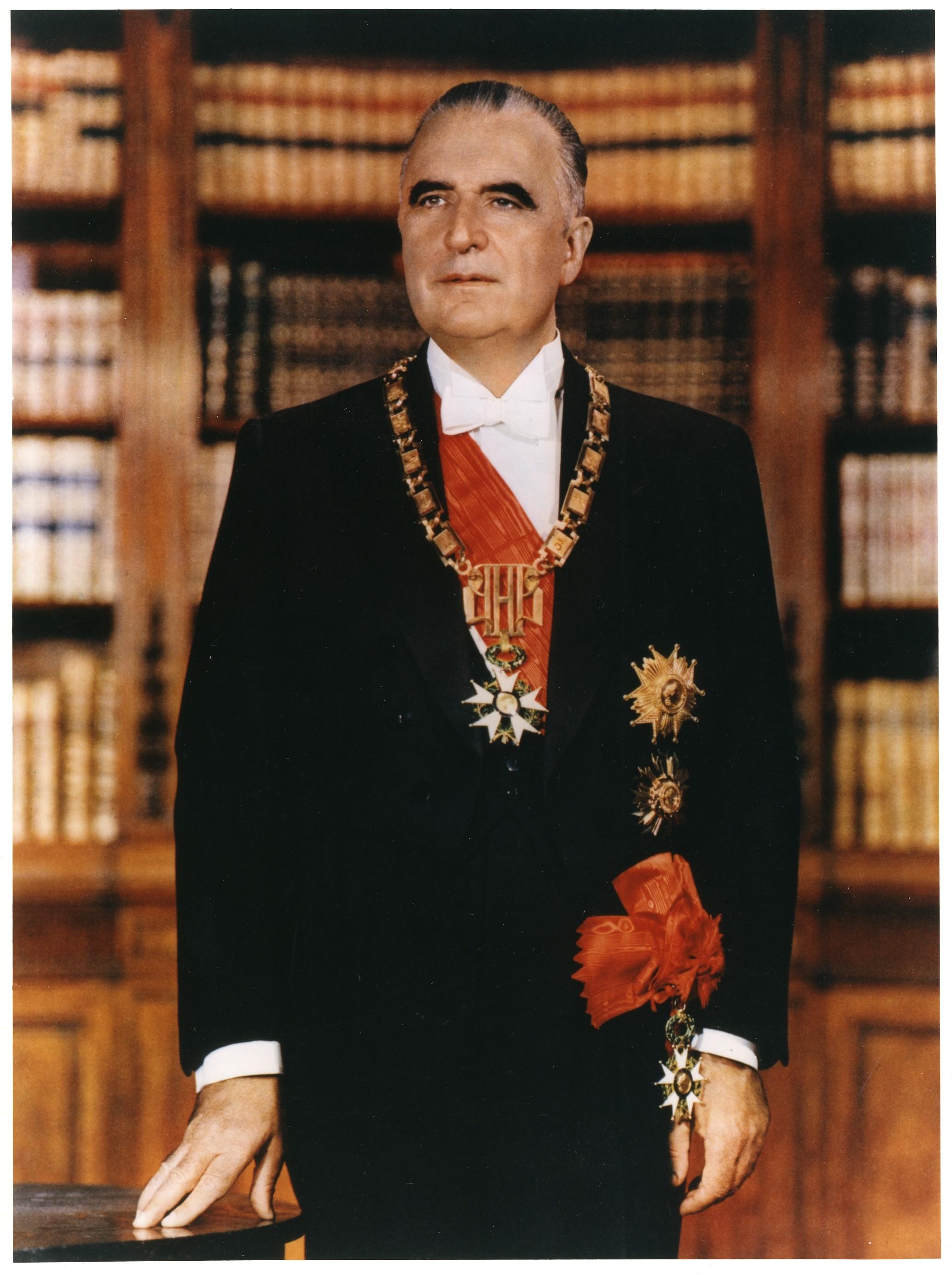Photographie officielle du président Georges Pompidou